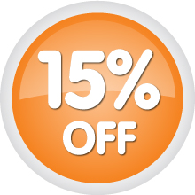 15% off Button