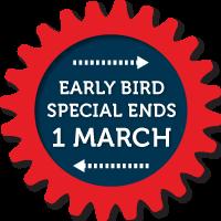 Early Bird Register Now