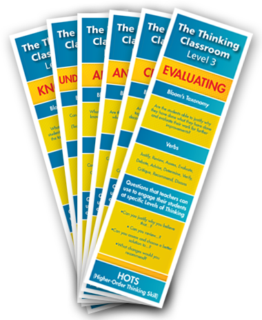 The Thinking Classroom Level 3 Bookmarks: Set of 6 (10 of each)