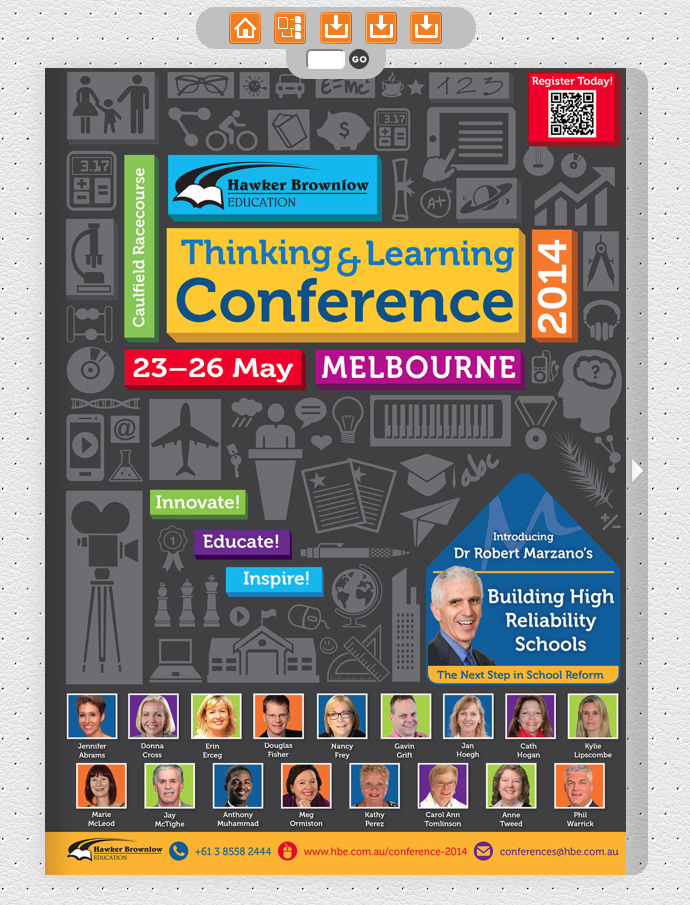 HBE Thinking & Learning Conference 2014 Interactive Brochure