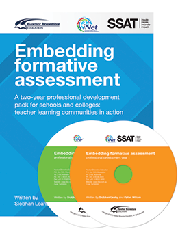 Embedding Formative Assessment: A 2 year PD pack